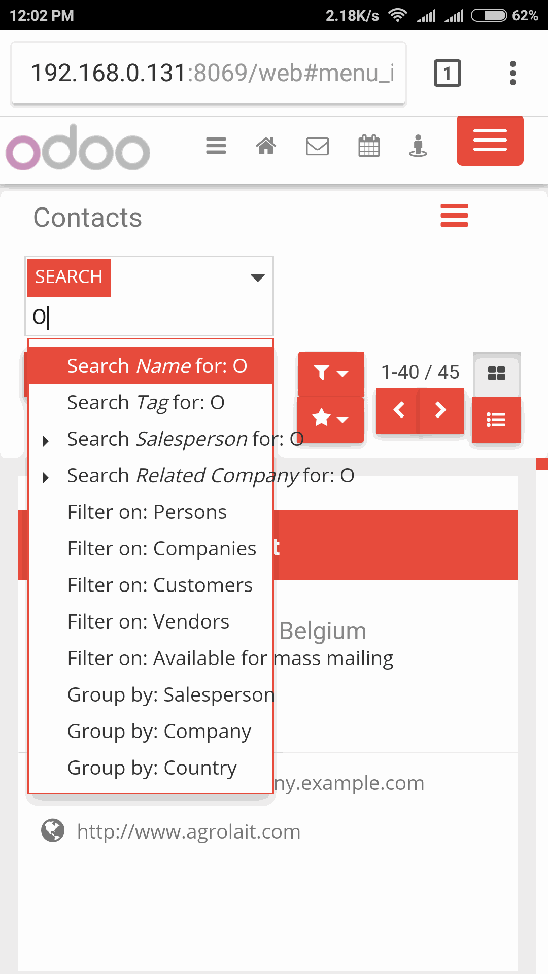 Odoo - Sample 3 for three columns