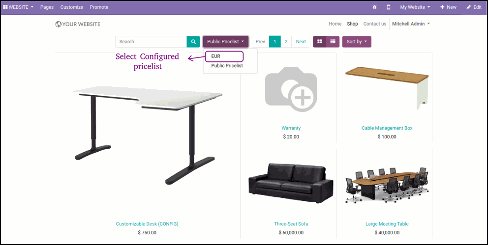 How To Display Discount And Ribbon On Odoo Website
