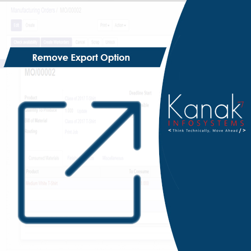 Remove Export Option