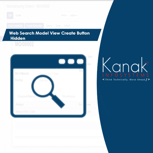 Web Search Model View Create Button Hidden