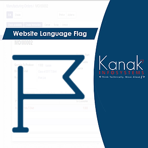 Website Language Flag by Kanak Infosystems LLP.
