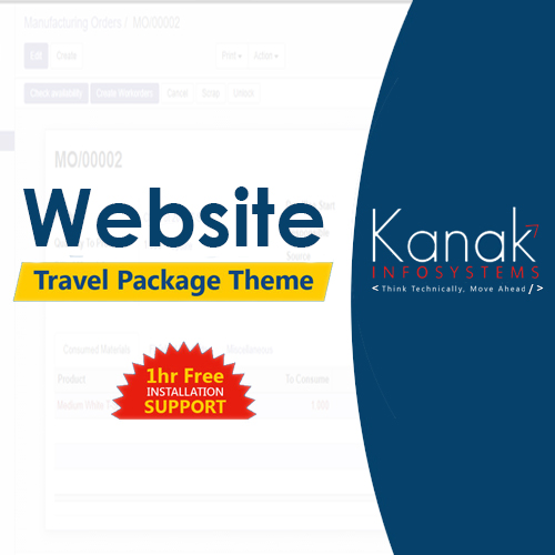 Website Travel Package Theme