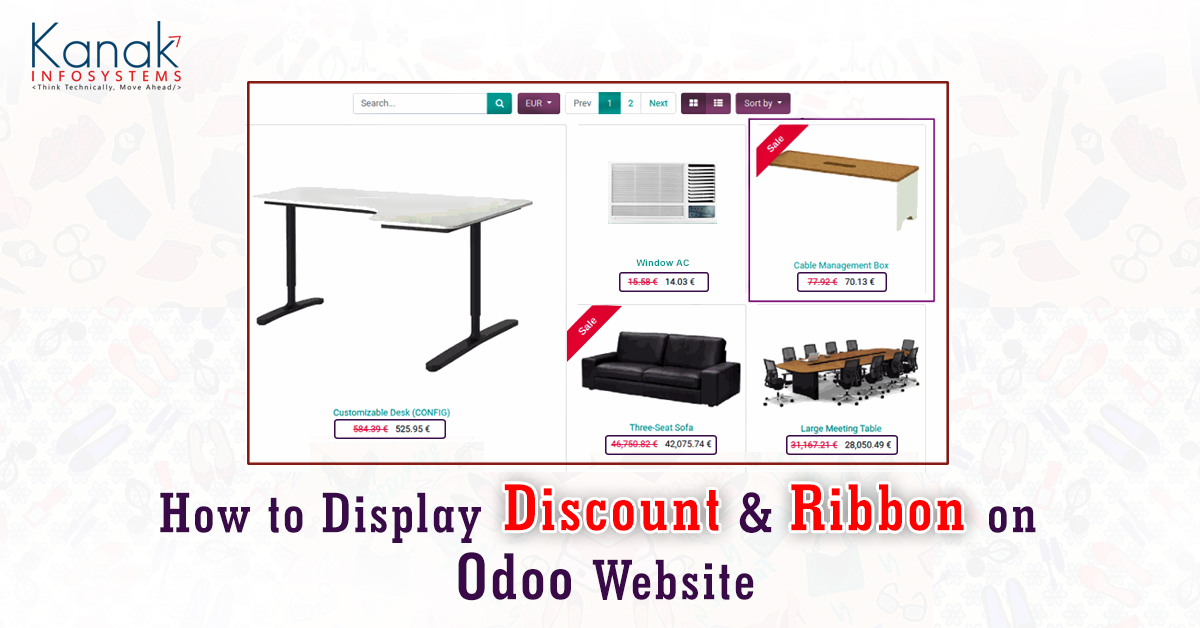 How To Display Discount & Ribbon On Odoo Website